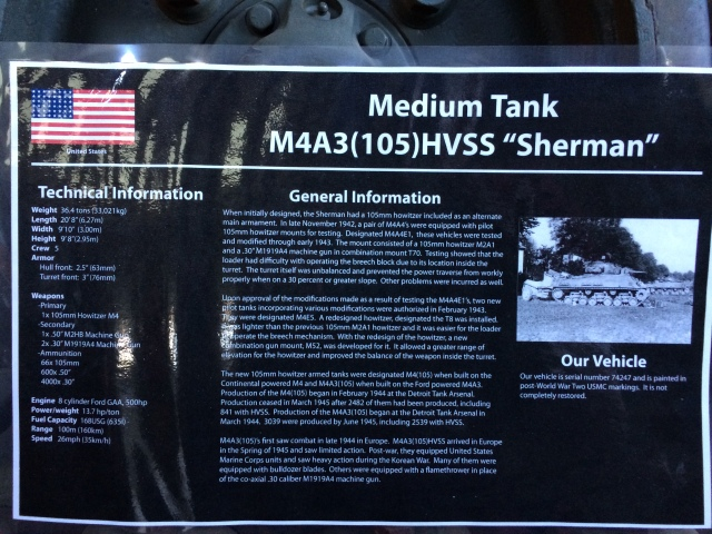 M4A3 Sherman Information