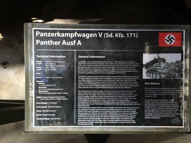 Panther Tank Information
