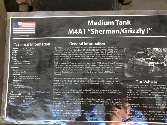 Sherman Tank Information