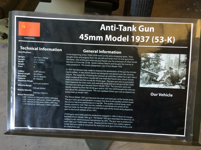 Soviet 45mm Anti-Tank Gun Information
