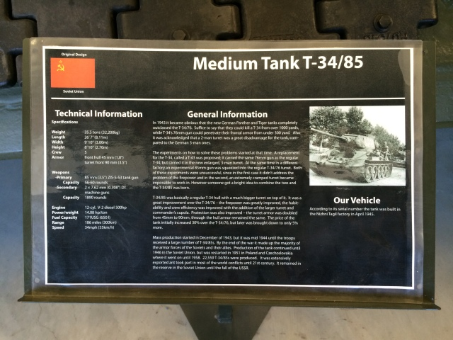 T-34:85 Information