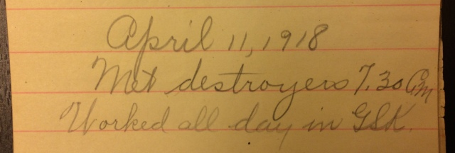Source: C. Gilbert Hazlett, April 11, 1918
