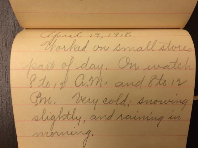 Source: C. Gilbert Hazlett, April 19, 1918