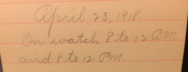 Source: C. Gilbert Hazlett, April 23, 1918