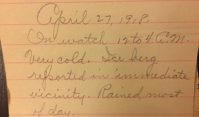 Source: C. Gilbert Hazlett, April 27, 1918