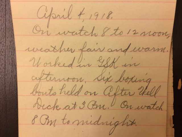 Source: C. Gilbert Hazlett, April 4, 1918