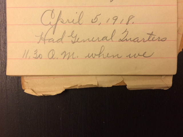 Source: C. Gilbert Hazlett, April 5, 1918