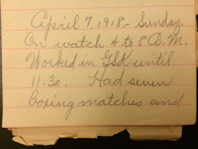 Source: C. Gilbert Hazlett, April 7, 1918