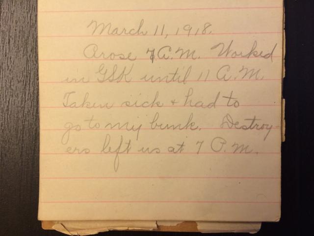 Source: C. Gilbert Hazlett, March 11, 1918