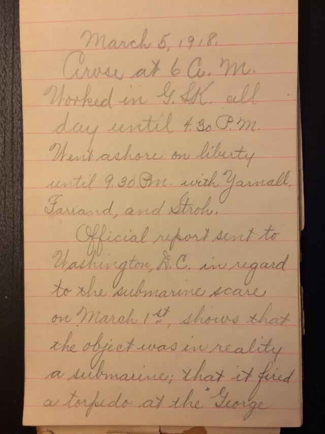 Source: C. Gilbert Hazlett, March 5, 1918