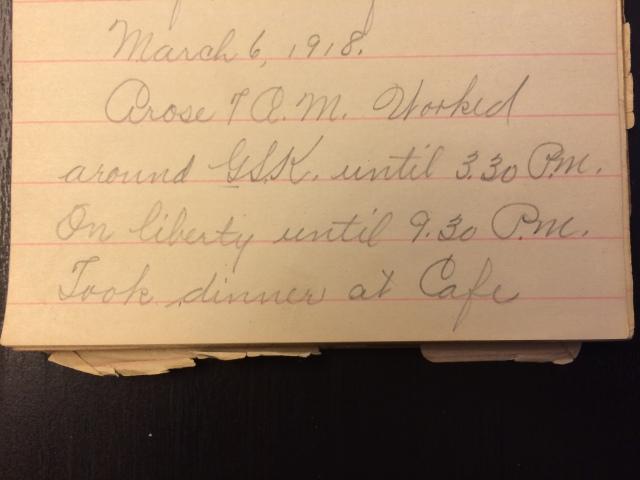 Source: C. Gilbert Hazlett, March 6, 1918