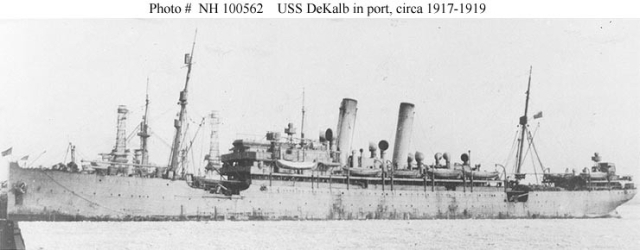 U.S.S. DeKalb, circa 1917-1919, Source: Naval History and Heritage Command