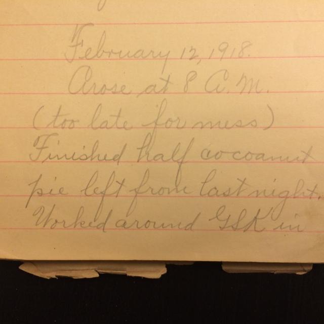 Source: C. Gilbert Hazlett, February 12, 1918