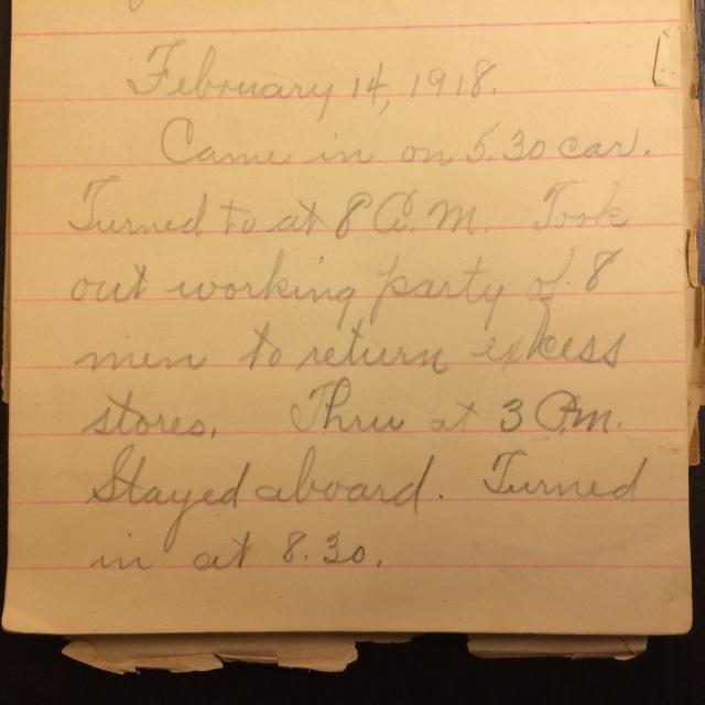 Source: C. Gilbert Hazlett, February 14, 1918
