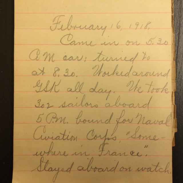 Source: C. Gilbert Hazlett, February 16, 1918