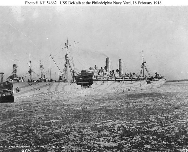 U.S.S. DeKalb, 18 February 1918, Source: Naval History and Heritage Command